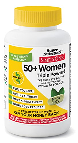 SuperNutrition Simply One 50+ Women's Iron-Free Multivitamin Tablet, 90 Count (Super Nutrition Simply One compare prices)