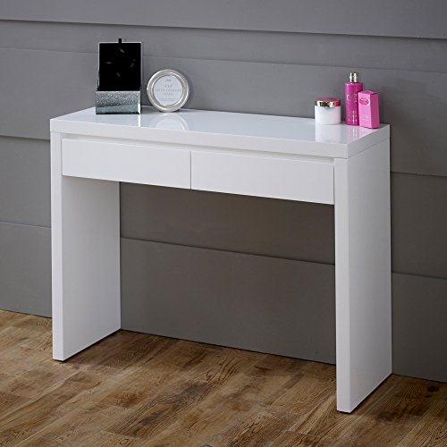 Awe Inspiring Buy Cheap White High Gloss 2 Drawer Dressing Console Table Unemploymentrelief Wooden Chair Designs For Living Room Unemploymentrelieforg