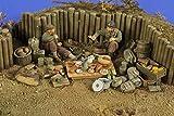 米 野営中の歩兵 小物+フィギュア2体[VP2779]Camping Ground US WWII Infantry 1:35 Scale