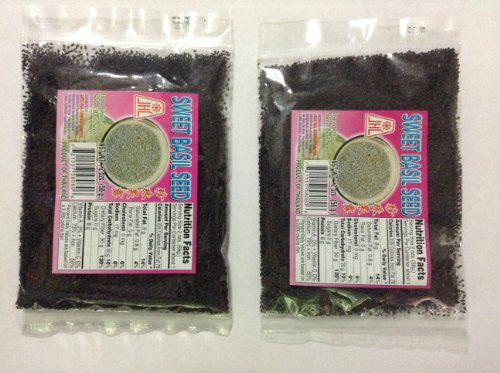 Sweet Basil Seed - 4 x 2 oz - Product of Thailand