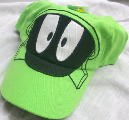 Looney Tunes Marvin the Martian Big Face Youth Size Cap Hat, Great for Halloween