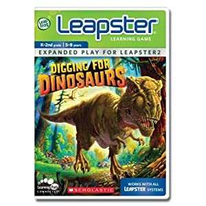 LeapFrog Leapster Learning Game Scholastic Digging for Dinosaurs