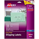 """Avery Ink Jet Clear Address Labels, 2"""" x 4"""", 250 per Pack (8663)"""