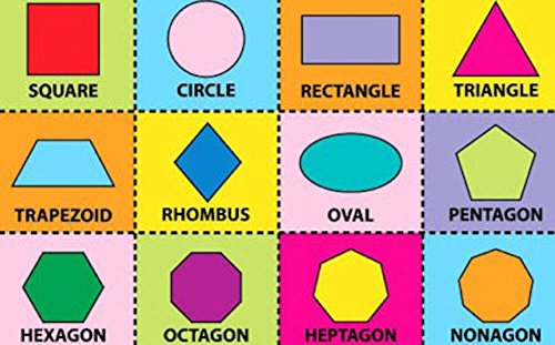 5X7 Educational Kids Rug Math Geometrical Shape Carpet School Time Size 51