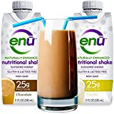 ENU protein shake / meal replacement drink. Tastes great. ($3 taste test: see on-page coupon) Maximum protein and calorie supplement to help ensure muscle mass & maintain weight. Complex carbs & healthy fats for energy. 24 vitamins & minerals. Best nutrition recovery drink. Naturally sweetened. NON-GMO, gluten free, Kosher. USERS INCLUDE: men, women, patients, kids, adults, seniors, digestive issues, body builders, athletes, people on the go, travelers. Ready to drink (2-pack/Chocolate & Vanilla)