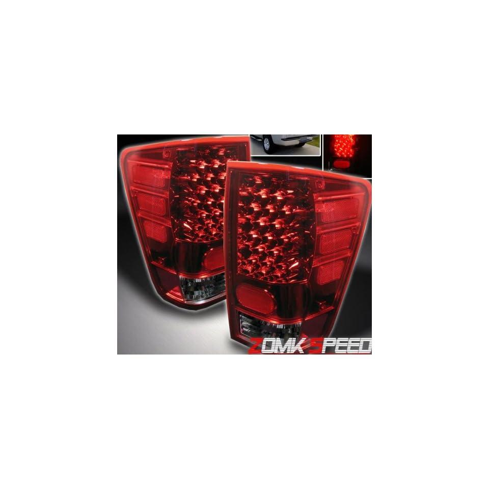 Nissan Titan Led Tail Lights Red Smoke LED Taillights 2004 2005 2006