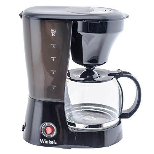 H.Koenig KF12 Cafetiere 12 Tasses Noir 800 W