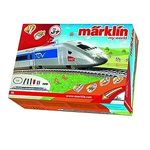 Märklin 29201 - Startpackung Französischer Hochgeschwindigkeitszug mit Batterieantrieb und Magnetkupplungen