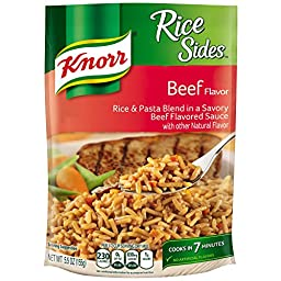 Knorr Rice Sides Rice Side Dish, Beef 5.5 oz (Pack of 12)