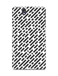 Amez designer printed 3d premium high quality back case cover for Sony Xperia Z (Black n White Pattern8)