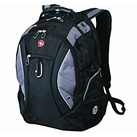 SwissGear SA1015 Black Backpack with Titanium Accents