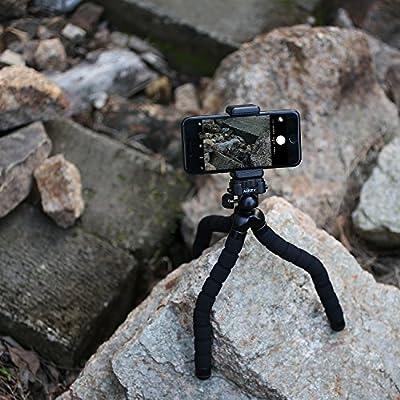 AUKEY 三脚 iphone スマートフォンホルダー Gopro スポーツカメラ インターバル動画 撮影 アクセサリー iPhone 7、iPhone 7 Plus/Android スマホなどに対応 CP-T03