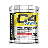 Cellucor C4 Mass Pre Workout Muscle Builder Supplement, Fruit Punch, 30 Servings(1020 Grams)