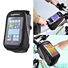 ROSWHEEL Mountain Bike Frame Pannier MTB Cycle Front Tube Phone Touch Bag Para Bicicleta Bicycle Basket Cycling Bag Accessories Touchscreen Phone Case Reflective Bag