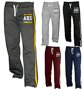 Men's Fleece Joggers Track Suit Bottom Jogging Exercise Fitness Boxing MMA Gym Sweat Fleece Trousers (Dark-Blue, 2XL)