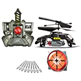 Air Hogs RC Megabomb Heli Special Edition - Bomb Dropping RC Helicopter - Black