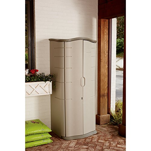Rubbermaid Plastic Vertical Outdoor Storage Shed, 17-Cubic Foot: 25 x