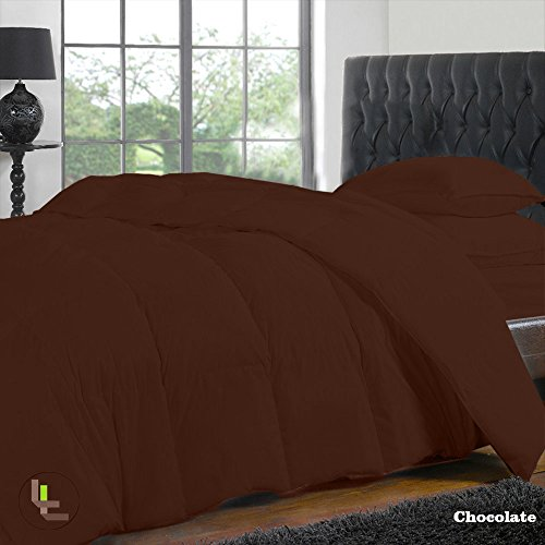 Bed Bee Cal King 300Tc Wonderful 1Pc Duvet Cover, 1Pc Fitted Sheet & 2 Pillowcases Solid(Pocket Size: 20 Inches) Chocolate Solid 100% Egyptian Cotton front-1013452
