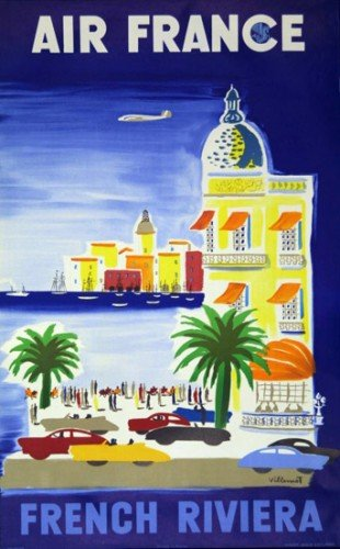 air-france-french-riviera-bvillemot-1200ex-50x70-cm-affiche-poster