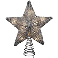 Kurt Adler Star Glitter Treetop with…
