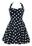 Ixia Women's Polka Dot A-Line Pinup Dress