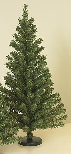 18 Inch Tall Canadian Pine Tree With 90 Tips IN Plastic Stand