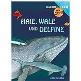 Produktbild von Coppenrath 5090 Malbuch mit Quiz! Haie, Wale und Delfine