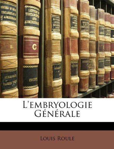 L'embryologie Générale