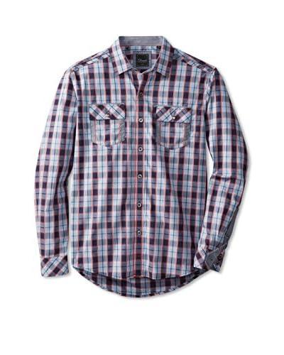 7 Diamonds Men's Glass Mountain Checked Long Sleeve Shirt