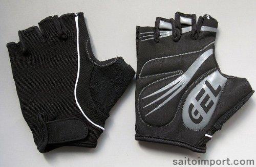 GELパッド サイクリンググローブ(黒)Lサイズ