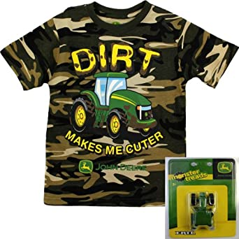 John deere boys olive t shirt toy tractor for John deere shirts for kids