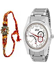 Best Gift For Brother, Men, Boys , White Dial Analogue Casual Wear Watch With Free Rakhi (Rakhi Designs May Vary...