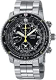 Seiko Mens SNA411 Flight Alarm Chronograph Watch