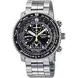 Seiko Men's SNA411 Flight Alarm Chronograph Watch