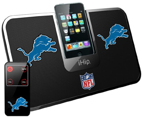 Ihip Official Nfl - Detroit Lions - Portable Idock Stereo Speaker With Wireless Remote Nfv5000Del
