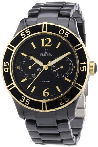 Festina F16634/2 - Reloj analógico de cuarzo para mujer con correa de cerámica, color negro