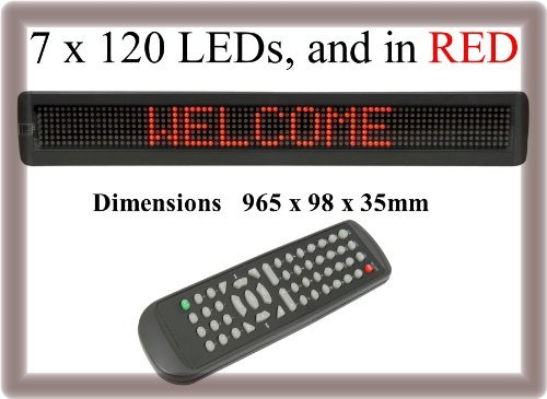 Tc57-Led Red Color Scrolling Digital Remote Programmable Message Sign Board D...