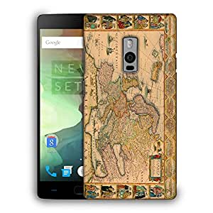 Snoogg World Map Designer Protective Back Case Cover For ONEPLUS TWO