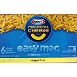 KRAFT EASY MAC MACARONI & CHEESE DINNER - EASY MAC Original 6-packets, 365.70 grams