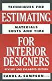 Estimating for Interior Designers - 0823016293