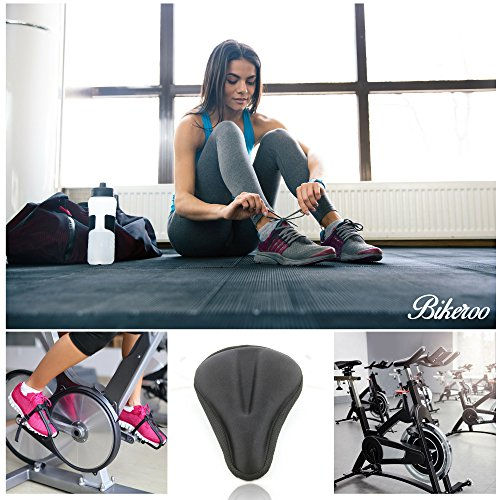 Most Comfortable Exercise Bike Gel Seat Cover Soft Cushion