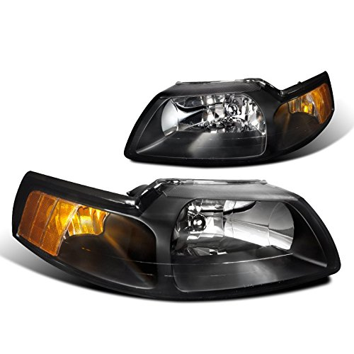 Spec-D Tuning 2LH-MST99JM-RS Ford Mustang Gt Base Svt Cobra Headlights W/Corner Lights 1Pc. Black (Mustang Cobra Headlights compare prices)