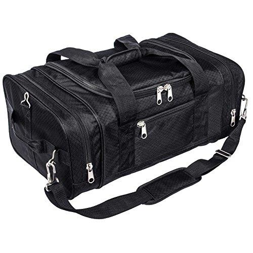 North Star Sports 1050 Tuff Cloth Flight Carry-On Luggage Bag, Black, 21