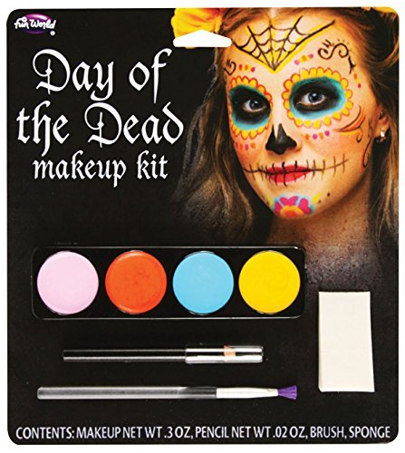 Day of Dead Make Up Kit (Female) by Bristol Novelties (Day Of The Dead Female Makeup Kit)