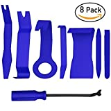 Advgears 8 Pcs Auto Trim Removal Tool Kit for Car Audio Dash Door Panel Window Molding Premium Fastener Remover Tools Set (Color: 8 Pcs(Blue), Tamaño: One Size)