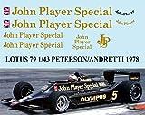デカール 1/43 LOTUS FORD 79 1978 PETERSON ANDRETTI JARIER DECALS TB DECAL TBD55