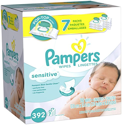 Pampers Sensitive Wipes Pop-Top Packs -  392 CT