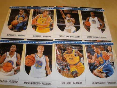 2011-12 Panini Nba Hoops Golden State Warriors Team Set In Storage Album (8 Cards ) Monta Ellis, Stephen Curry, Andres Biedrins, David Lee, Kwame Brown & More front-619945
