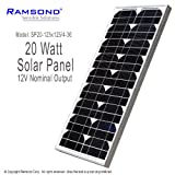 Ramsond® 20 Watt 20W W Solar Panel Module 12V Nominal Output RV Boat Battery Charger Charging Trickle Boat