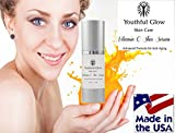 BEST Vitamin C Serum for face, eyes and skin - Nature's Anti-Aging Skin Care Products for Women - Daily Tool for Facial Moisturizer, Collagen Booster, Reduces Fine Lines, Fades Age Spots & Minimizes Wrinkles - Pure Serum NOT a Cream - Promotes Optimum Hydration for Smoother, Brighter, More Youthful, Radiant Skin - Excellent Blemish Treatment for Acne-Prone Skin - Contains the MOST Non-Irritating Form of Vitamin C for Sensitive Skin & Hyaluronic Acid, Aloe Vera, Jojoba Oil, MSM & Natural Glycerin - This Serum is a CONCENTRATED Delivery System for the HIGHEST Form of Active Bio-available Vitamin C for Beautiful, Healthy Skin on Your Face - 100% Satisfaction GUARANTEED